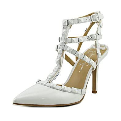 7e3698db0eb Jessica Simpson Dameera Women US 6.5 White Slingback Heel  Amazon.co ...