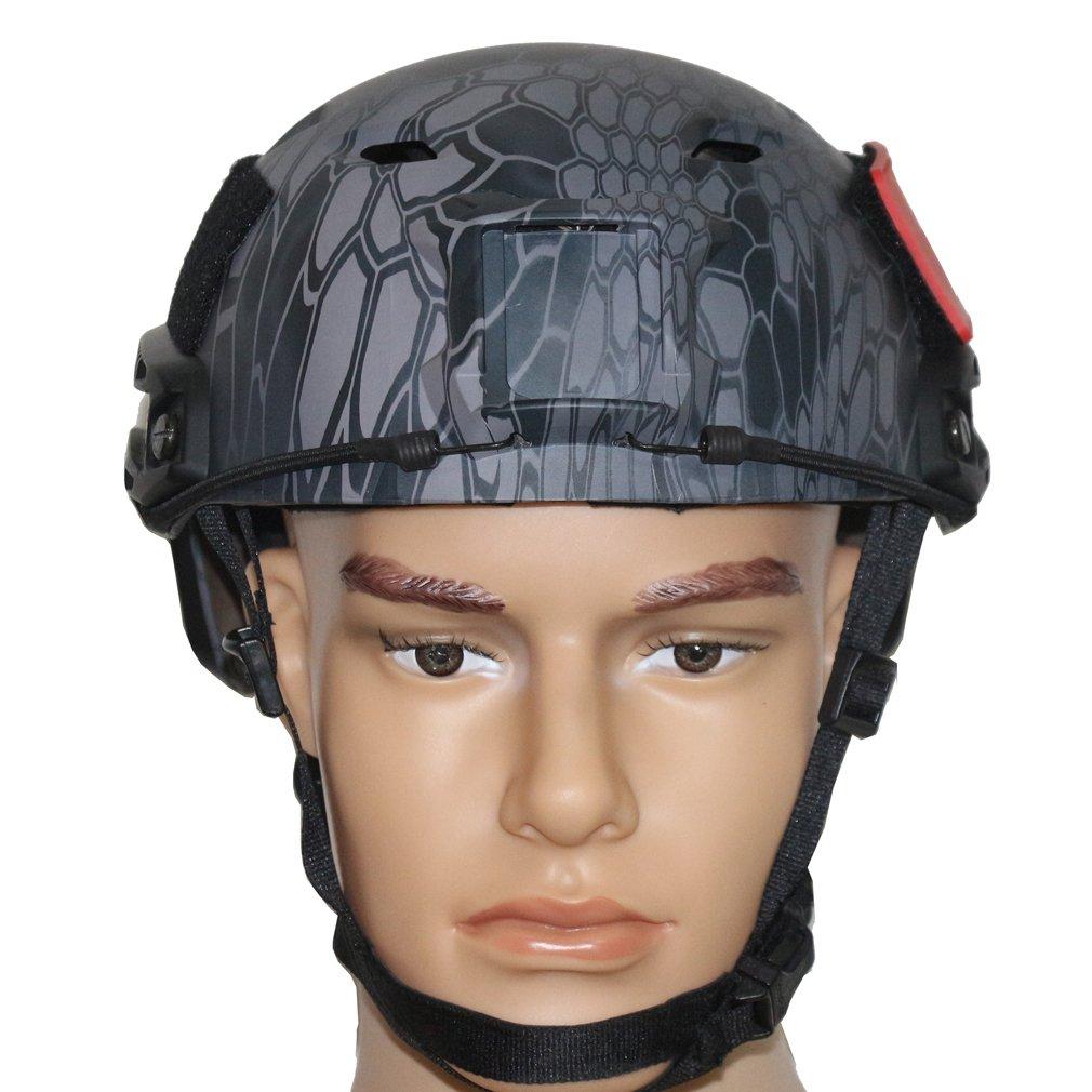 LOOGU Fast BJ Base Jump Military Helmet with 12-in-1 Headwear (Typhon) by LOOGU