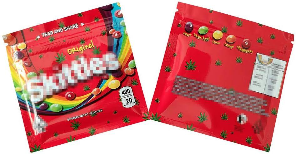 Mr.Ma Rich Mylar Bags Smellproof Ziplock Resealable Heatseal Bags No Labels/Empty bag 3.5x3.5in(25, S-Original)