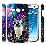 [TeleSkins] - Galaxy S3 Designer Hardshell Case - Springink Hipster Llama Alpaca Space - Ultra Durable Slim & HARD PLASTIC Highly Protective Vibrant Snap On Designer Sublimation Back Case / Cover