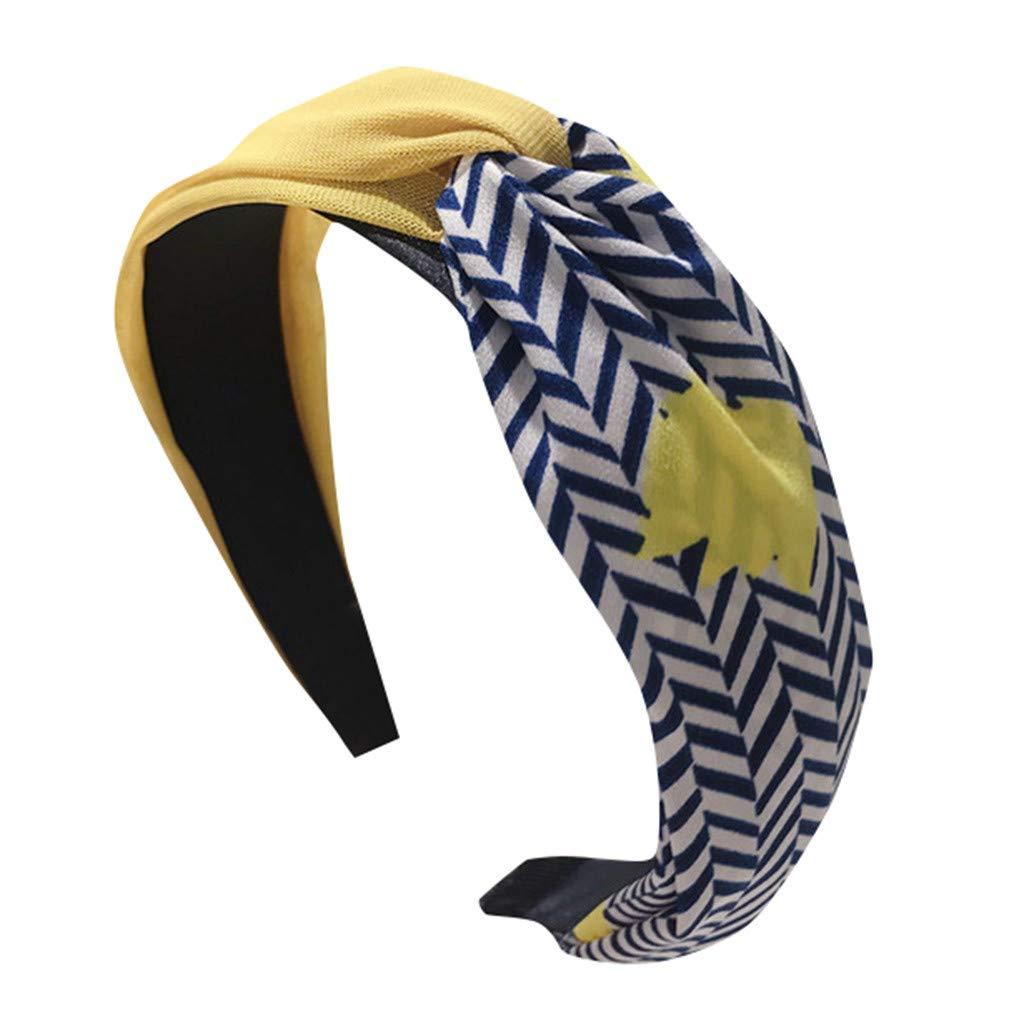 Benficial Womens Crystal Headband Fabric Hairband Head Wrap Hair Band Accessories 2019 Summer