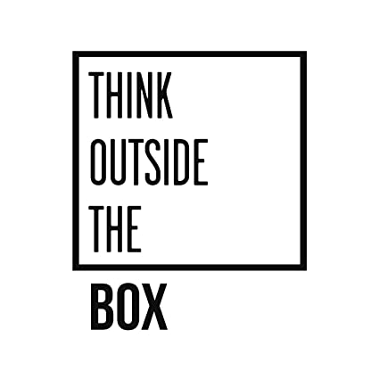 Amazoncom Think Outside The Box Inspirational Quotes Wall Art