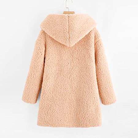 Amazon.com: Womens Coats Winter Clearance!Besde Womens Fashion Solid Warm Plush Lightweight Outwear Curved Hem Longline Faux Fur Sherpa Fleece Hoodie ...