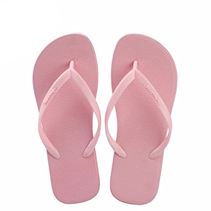 939178f5594ed Amazon.com  flip flops Women Pink Designer Slim Rubber Slippers Summer Beach  Sandals Fashion Shoes Slides Shower Slippers  Sports   Outdoors