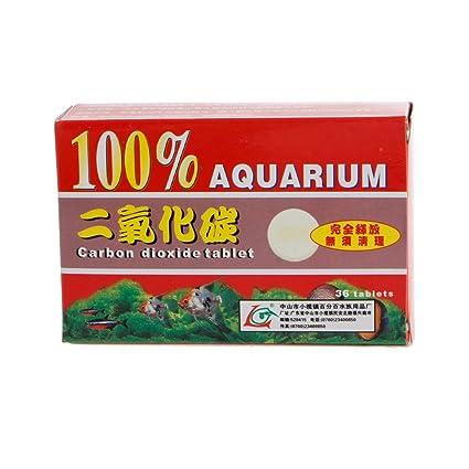 Runrain - 36 pastillas de dióxido de carbono para plantas de acuario, pecera, pecera