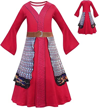 Amazon Com Ocarseii Live Action Mulan Halloween Costume For Kids Clothing