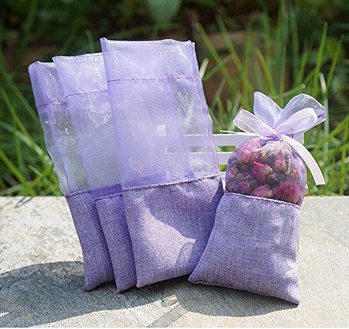 TooGet Sachet Empty Bags Linen Fabric Bags Organza Gauze Bags 3x6 (Lace Sachet)