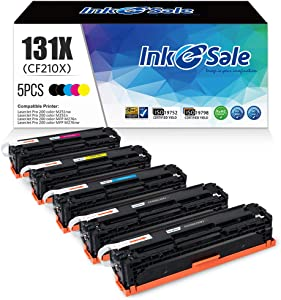 INK E-SALE Remanufactured Toner Cartridge Replacement for HP 131A CF210A 131X CF210X Canon 131, for use with HP Laserjet Pro 200 color M251n, M251nw,M251MFP, M276nw,M276n Series Printer, 5 Pack