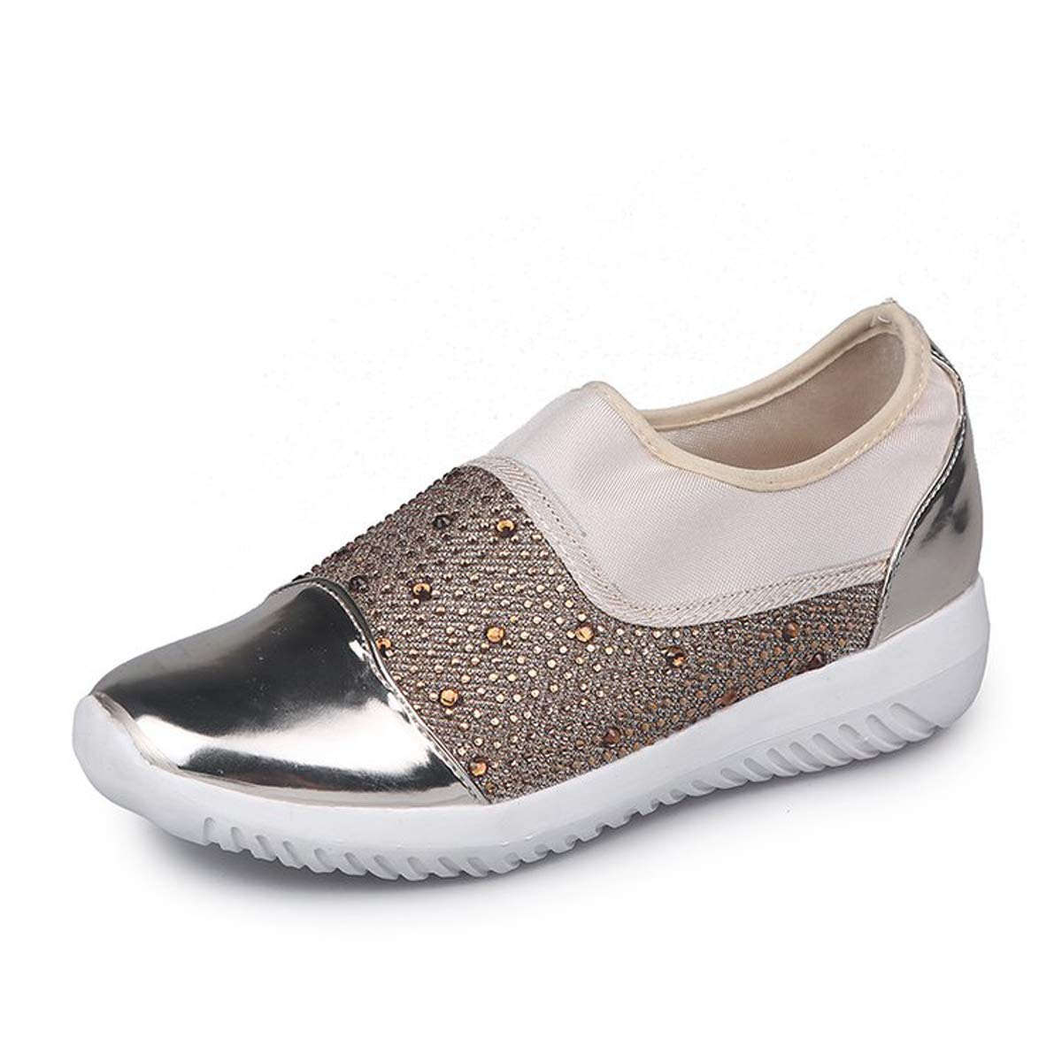 VFDB Sneakers for Women Running Walking Shoes Lightweight Breathable Athletic Shoes Gold US 7.5