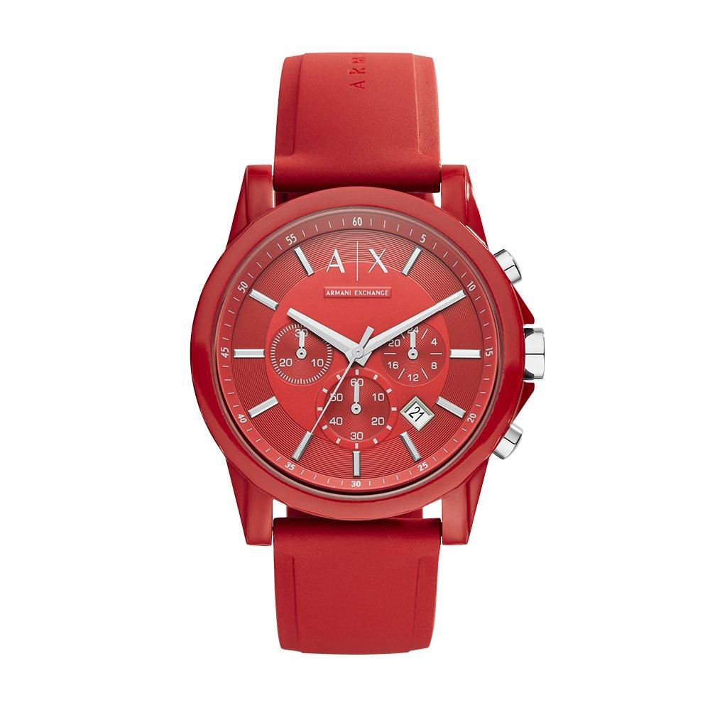 f658051725 Armani Exchange AX1328 Watch, Men, Red Silicone: Amazon.com.mx: Relojes