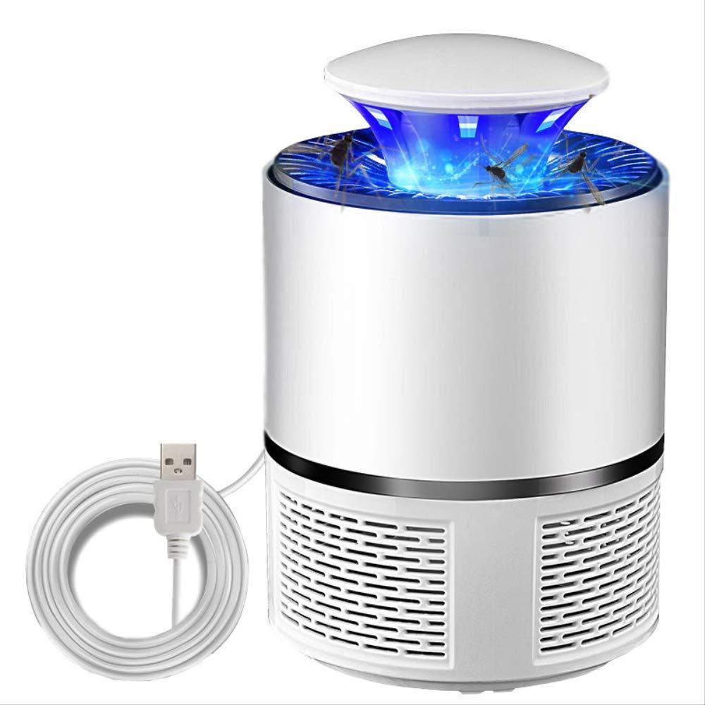 AMTSKR Lampe De Contr/ôle De Moustique De Photocatalyseur D/'USB Accueil Moustique D/éperlant LED Non-Radiation Flytrap Six Lights USB avec Adaptateur Blanc