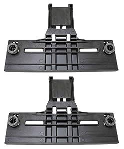 Kitchenaid Compatible Dishwasher Upper Rack Adjuster Kit-(2 Pack) Top Rack - New