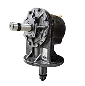 """40HP Gearbox 1-3/8"""" Smooth Input & 12 Spline Output Shaft for 4' & 5' Cutters Mounting Pattern (4) 5/8"""" Holes x 6-1/2"""" Pattern x 5"""" Centers Farmer Bob's Parts 49331"""