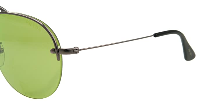 Amazon.com: Prada anteojos de sol SPR 58o Gunmetal 5 AV-1 A2 ...