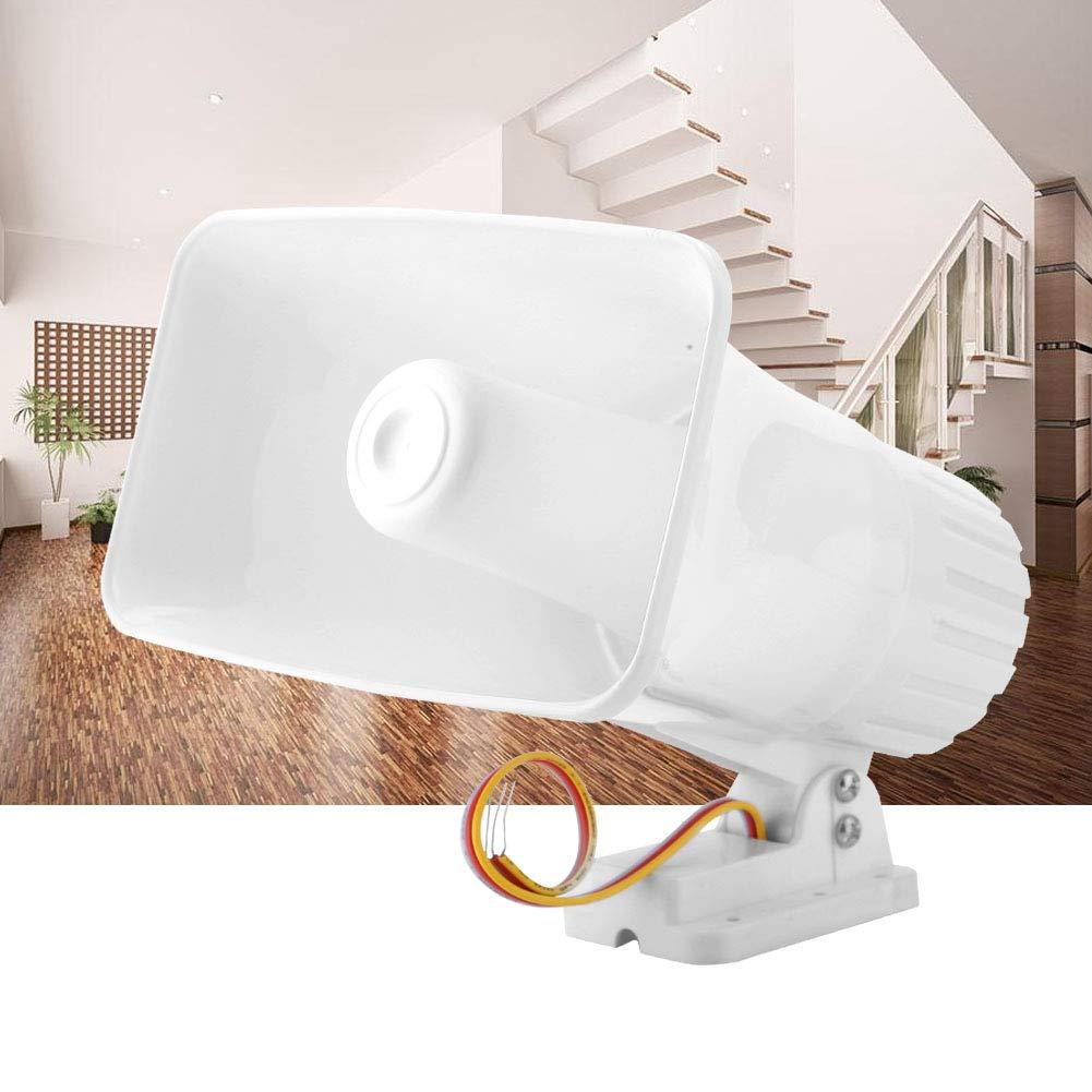 Adecuado para Alarma Host Sirena de alarma de 12 V para la seguridad en el hogar Sistema de alarma de advertencia de Althorn de doble tono con conexi/ón de cable de 150dB con Shell ign/ífugo Alarma