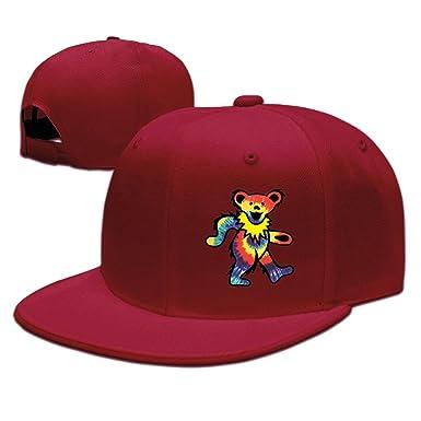 31c9be739fb2b Man Rock The Grateful Dead Dancing Bear Flat Along Baseball Caps Trucker  Hats