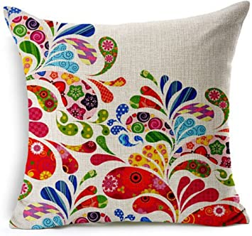 Amazon.com: Showutheworld algodón cojín decorativo de lino ...