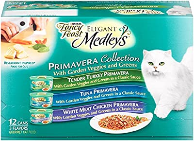 Purina Fancy Feast Medleys Primavera Collection Gourmet Wet Cat Food Variety Pack - (12) 3 oz. Cans by Purina Fancy Feast