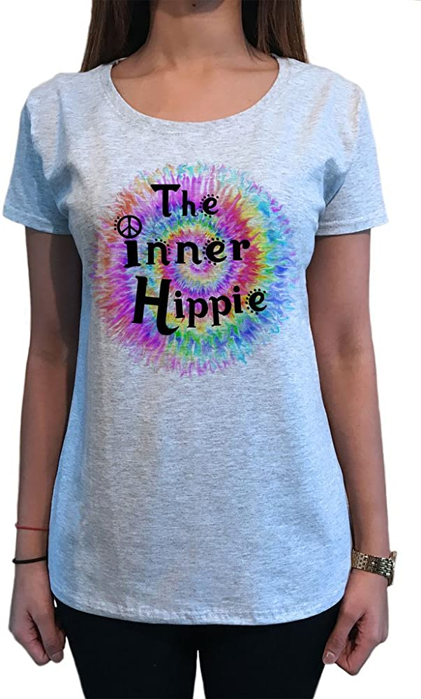 Camiseta para Mujer The Inner Hippie Love Tie-Dye CND Print TS1328: Amazon.es: Ropa y accesorios