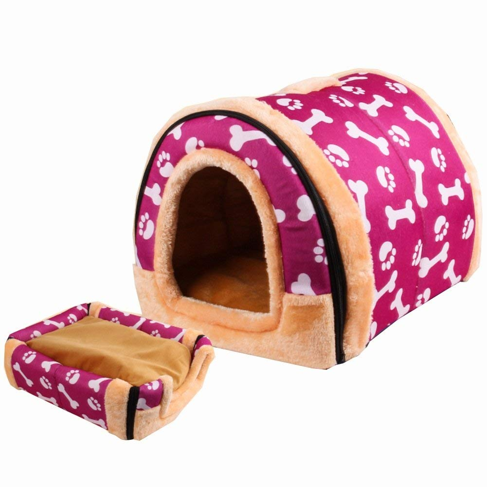 blu Bridge Casa del Cane, I Gatti e i Cani Pet House Four Seasons Sono Disponibili Pet Salon viola XS S M L (Dimensioni  XS-29  26  23cm) (Dimensione   L-59  41  42cm)