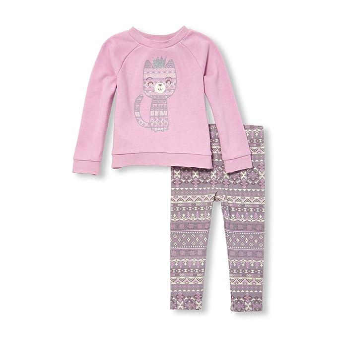 bd7135d07 The Children's Place Baby Girls Long Sleeve Fleece + Legging Set, Lilac  dust, 3T. Pasa el mouse encima de ...