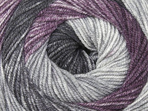 Stylecraft Batik Swirl Cake Knitting Yarn DK 3730 Purple Mist - per 200 gram ball (Mist Swirl)