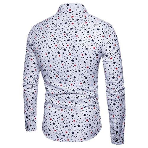 Abbigliamentourban Magleitta Camicia Tops Moda Spessorere amp; Caldo manica Fit White Maniche Classic Lunga Slim Uomo Shirt Pelliccia Casual Odejoy Foderato Strisce Lunghe EPwZq7g7