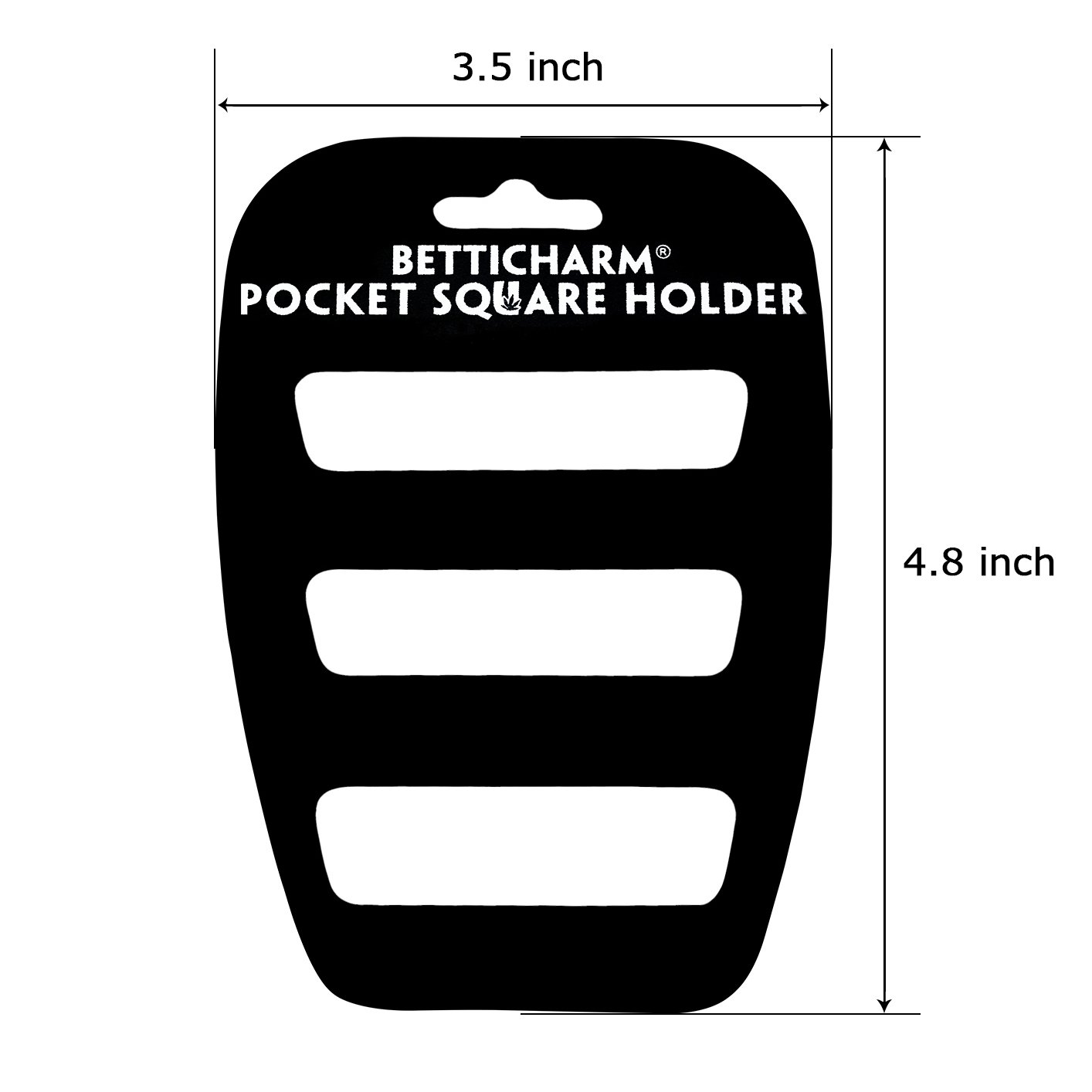 BettiCharm Slim Pocket Square Holders, Men's Suit Handkerchiefs Keeper/Organizer (5 Pack) by BettiCharm (Image #2)