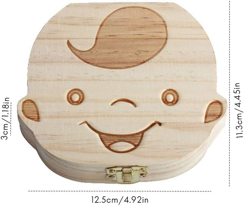 Milk Tooth Box Tooth Box Wooden Milk Tooth Box Tooth Box for Children Tooth Box Tooth Fairy Box Wooden Tooth Box