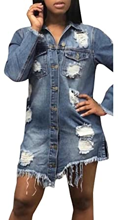 differently many fashionable exclusive range YUNY Women Brushed Distressed Regular Fit Extra Long Denim ...