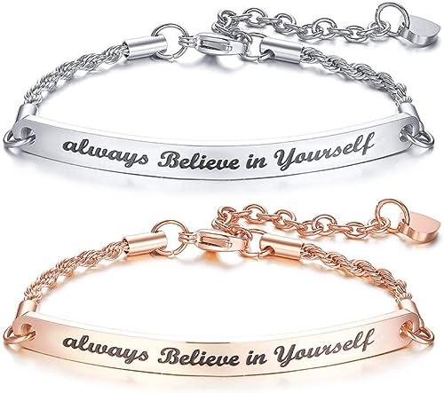 Friendship bracelet star Bracelet personalized Gift sister Girlfriend   Bracelet engraving