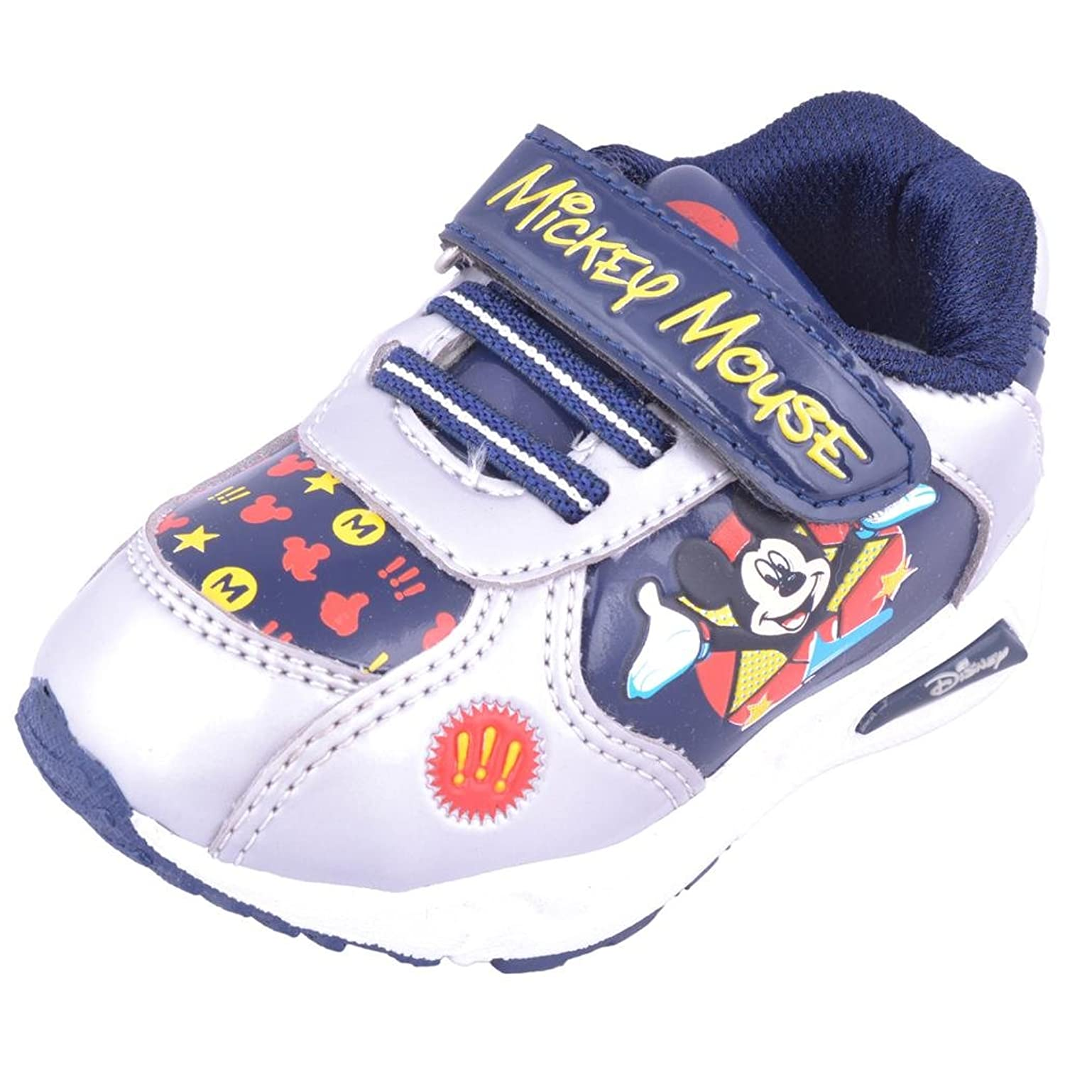 Disney Kids Uni Mickey Mouse Navy Blue Silver Shoe Size 10