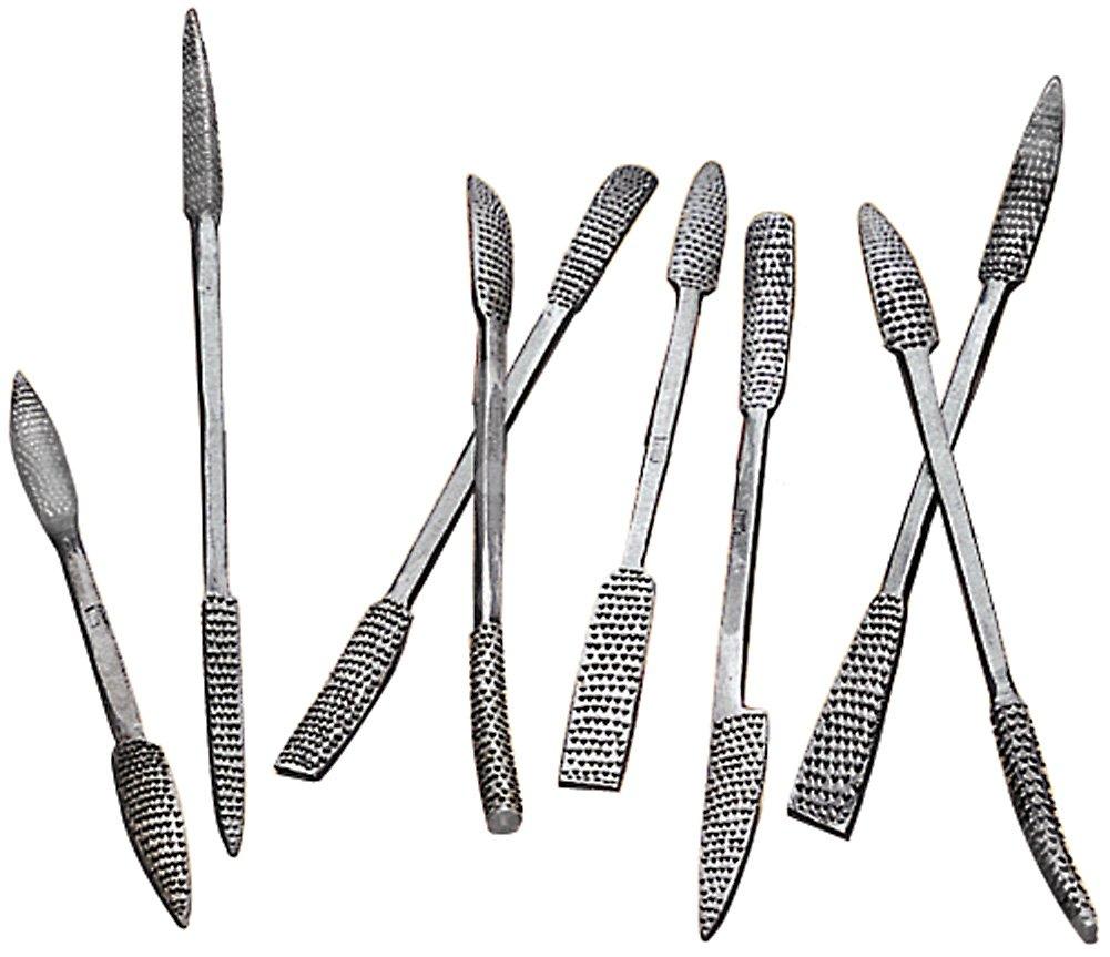 Woodtek 864661, Hand Tools, Scraping & Shaping, 8 Pc Coarse Riffler Set by Woodtek