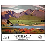 Media Storehouse 10x8 Print of North Wales - The Snowdon Range, LMS poster, 1923-1947 (10007196)