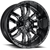 Fuel Sledge 20x10 Black Milled Wheel / Rim 8x170 with a -18mm Offset and a 125.1 Hub Bore. Partnumber D59520001747