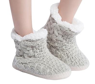 Amazon.com | MaaMgic Womens Fuzzy Cable Knit Christmas House ...