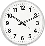 Mishty Pendulam Analog Wall Clock for Home for Living Room Decorative Wall Clock 18X5 Inch (Silver)