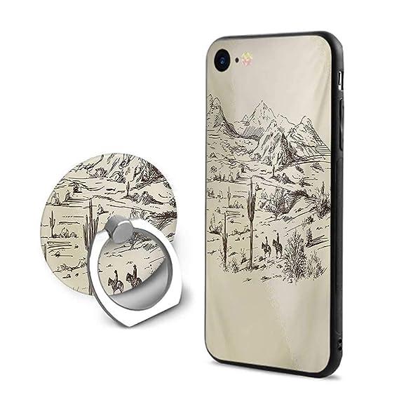 huge discount 5e78b 2a6b7 Amazon.com: Western iPhone 7/iPhone 8 Cases,Wild West Landscape ...