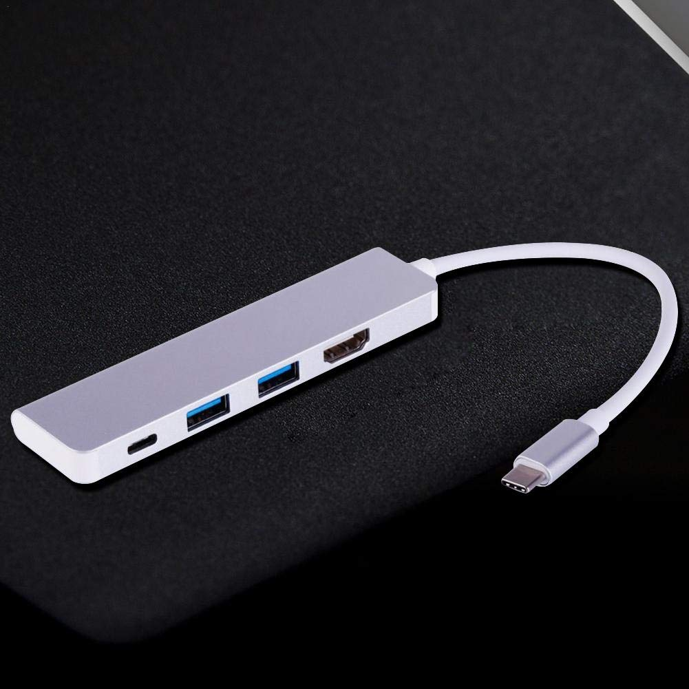 Flickering 4-in-1 USB Hub USB Multi-Function Hub C-C Adapter for MacBook Pro Air Windows for HDMI C Cable Converter 2 USB 3.0