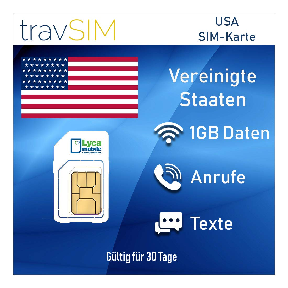 Handytarife Sim Karten Sms Unbegrenzte Nationale Internationale Anrufe 3g 4g Lte 30 Tage Standard Micro Nano Travsim Prepaid Sim Karte Für Usa Puerto Rico Von Lycamobile 1 Gb Mobile Daten Elektronik