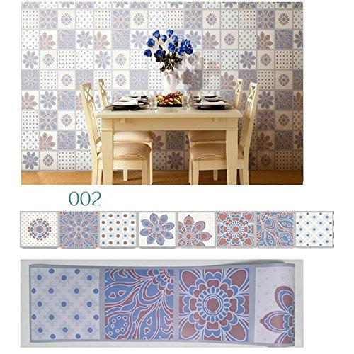 Pegatinas de azulejos de estilo europeo baldosas de azulejo de primera clase pegatinas de pared en el suelo pegatinas de...