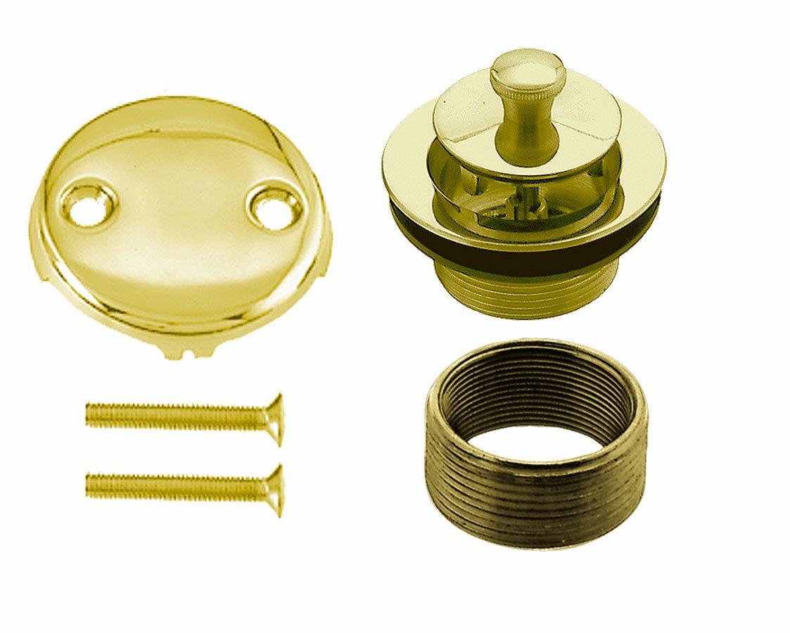 Westbrass D94K-01 Bath Drain Polished Brass Polished Brass