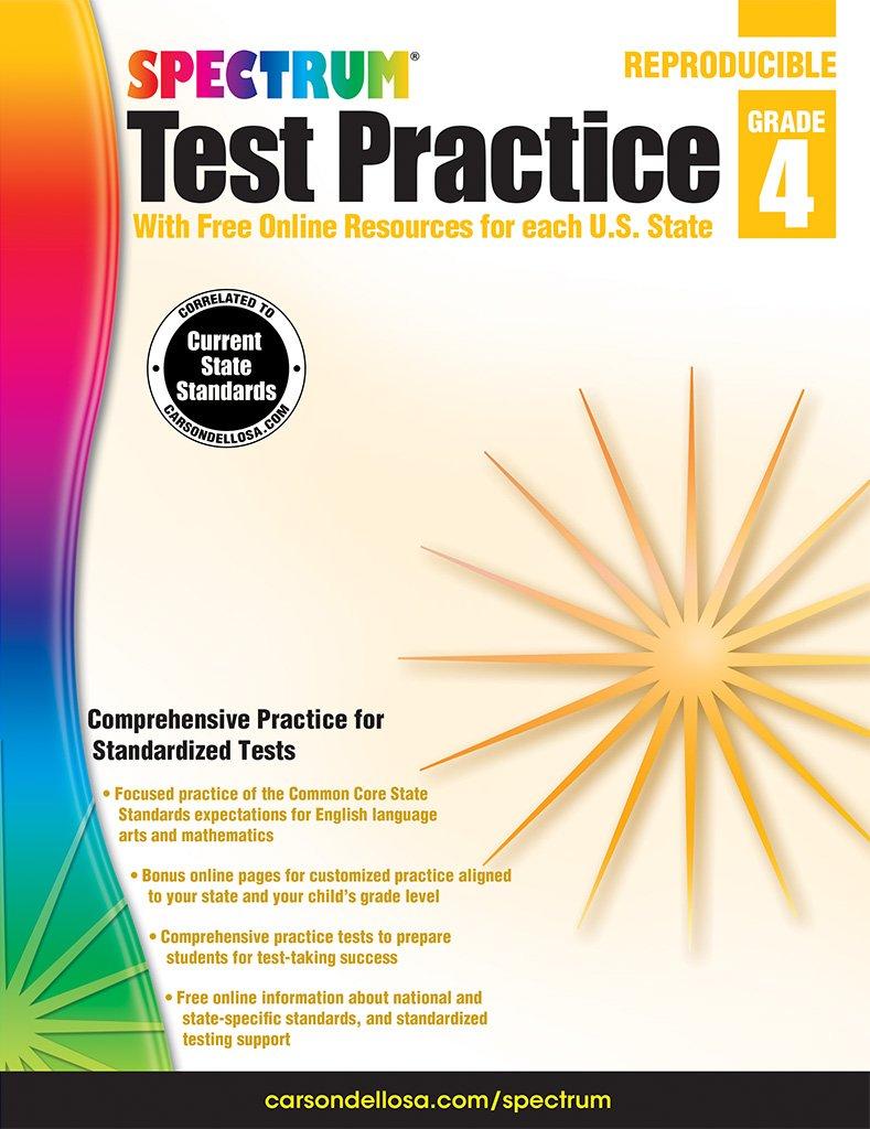 Reviews: Spectrum Test Practice, Grade 4- Children's Books ...