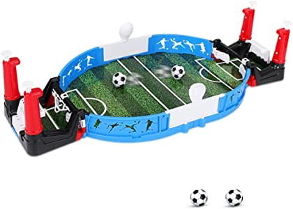 yidenguk Mini futbolín, Jugadores Dobles de Fútbol de Mesa Juego de Fútbol de Mesa con Dos Bolas Juguetes Interactivos para Niños Adultos: Amazon.es: Juguetes y juegos