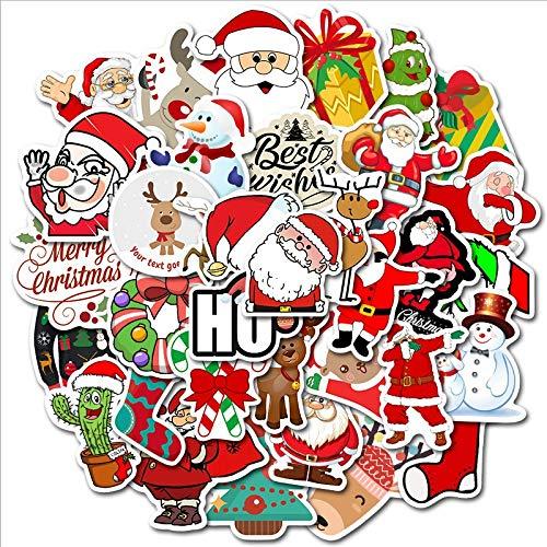 valigie Skateboard Snowboard Devlope Natalizi Stickers Natale Adesivi Etichette Adesivi Chiudi Pacchetti Natale Decorative per Sacchetto di Regalo Compleanno per Laptop Moto
