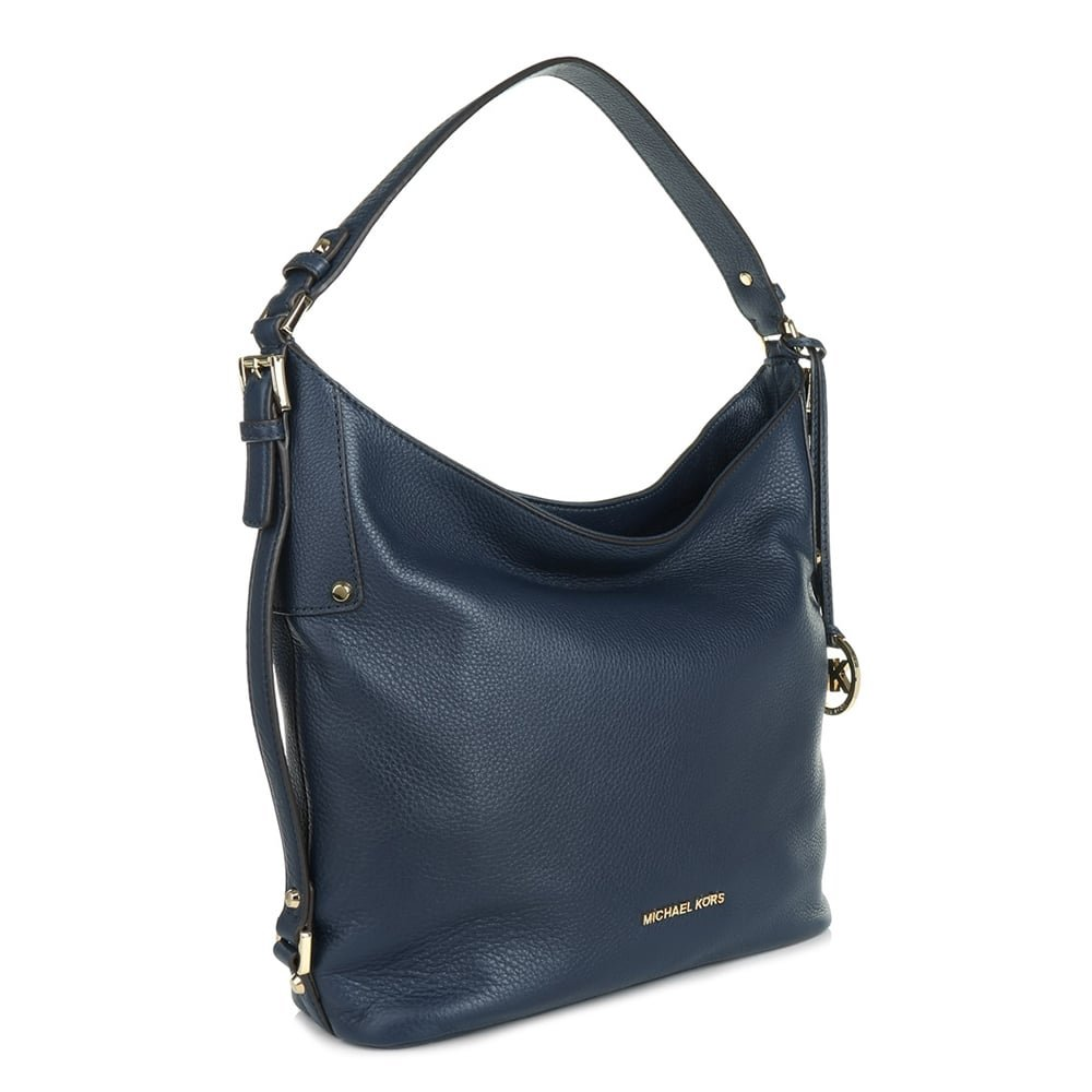 c306a9510730 MICHAEL by Michael Kors Bedford Navy Grained Large Shoulder Bag one size  Navy: Amazon.co.uk: Shoes & Bags