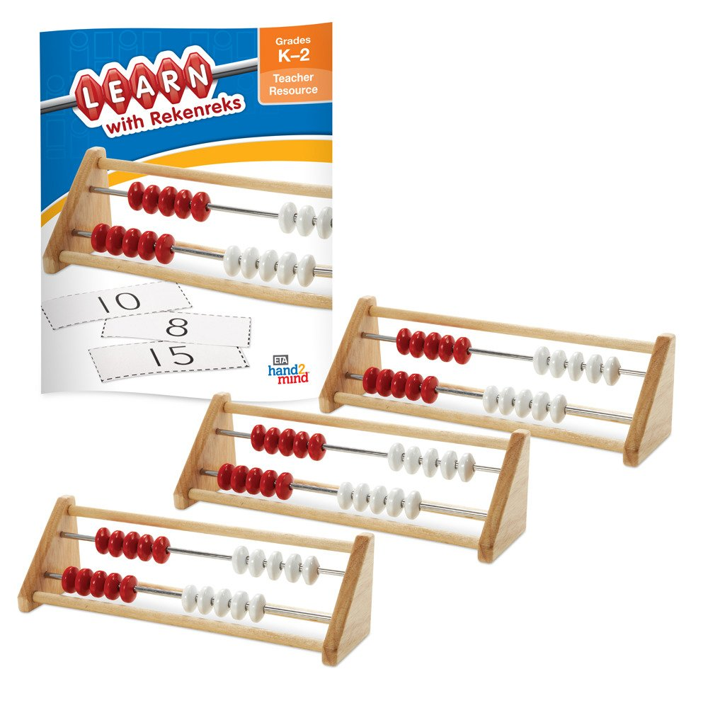 ETA hand2mind 20-Bead Rekenrek Small Group Kit with 3 Wooden Frames and Teacher Resource Guide