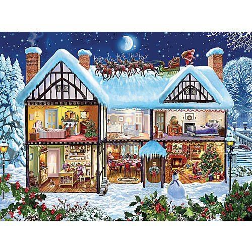 Ceaco The Spirit of Christmas - Christmas House - Holiday Puzzle (550 Piece) by Ceaco