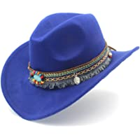 KCBYSS Moda Mujer Hombres Westerly Cowboy Hat for