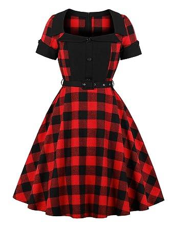 45c887adf05 FeelinGirl Femme Robe Mere Noel Noel Robe Femme Robe Rockabilly Noel Robe  Mere Noel Fille Robes